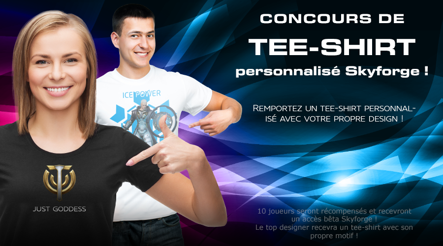 Skyforge dedicated t-shirt contest