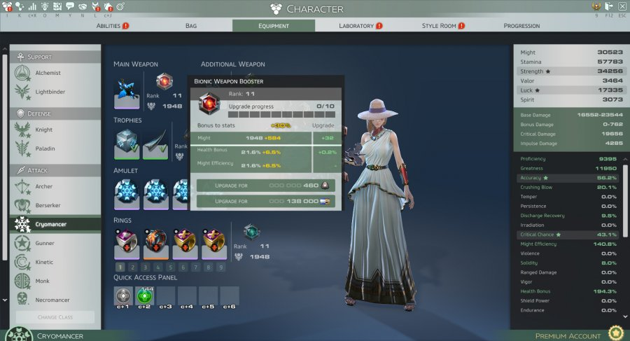 Skyforge Equipment refine 3