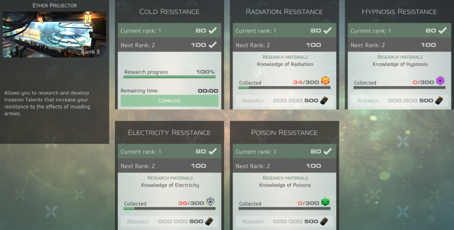 Pantheon Bonuses - Resistances