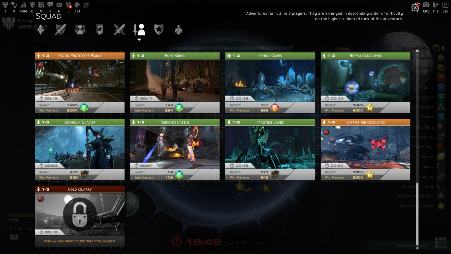 Skyforge New Adventure Search Interface 1